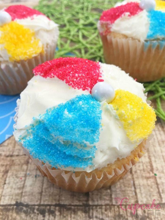 Summer Cupcakes Ideas  Life is a Beach Ball Cupcakes Birthday ideas