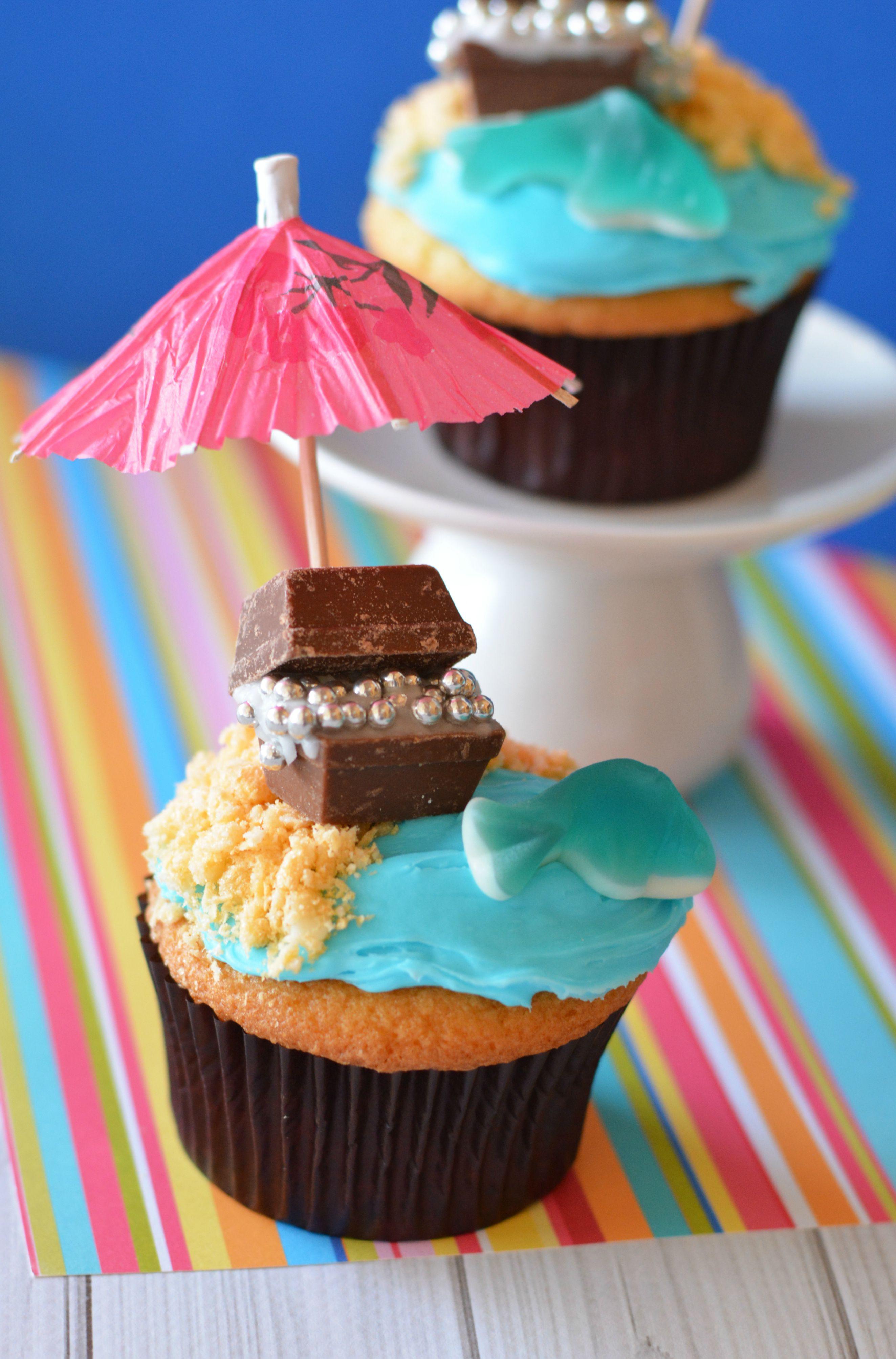 Summer Cupcakes Recipe  Treasure Chest Beach Cupcakes Recipe Not Quite Susie