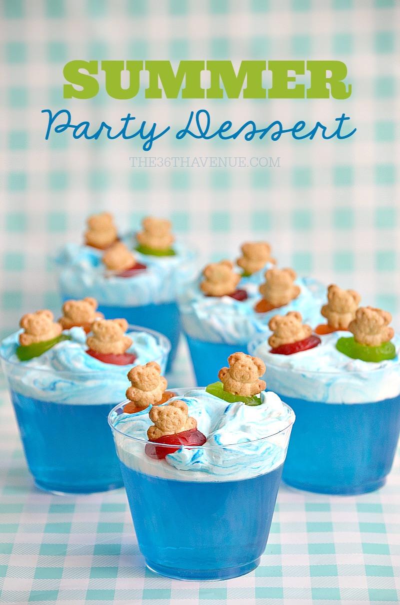 Summer Dessert Idea  Summer Dessert Pool Party Ideas The 36th AVENUE