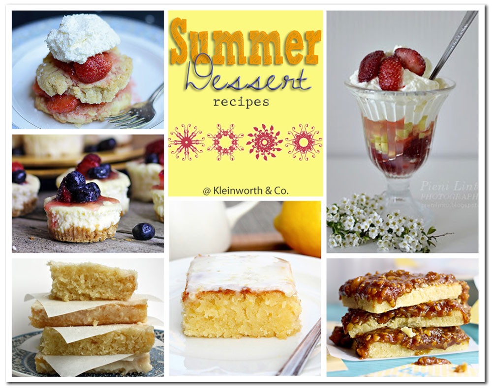 Summer Dessert Ideas  80 Sweet Summer Treats Page 2 of 2 Kleinworth & Co