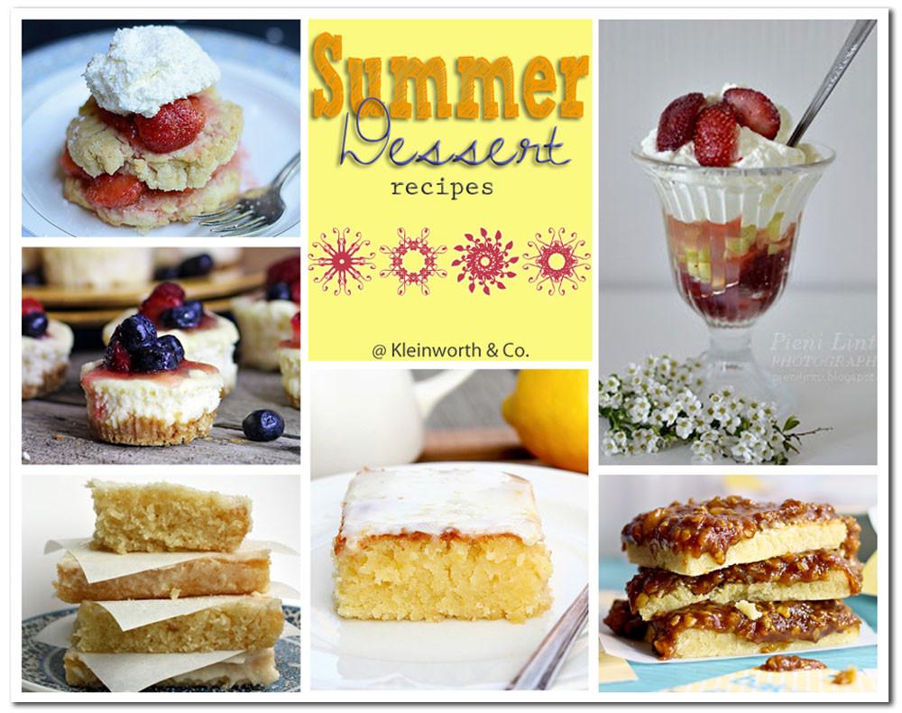 Summer Dessert Pinterest  80 Sweet Summer Treats Kleinworth & Co