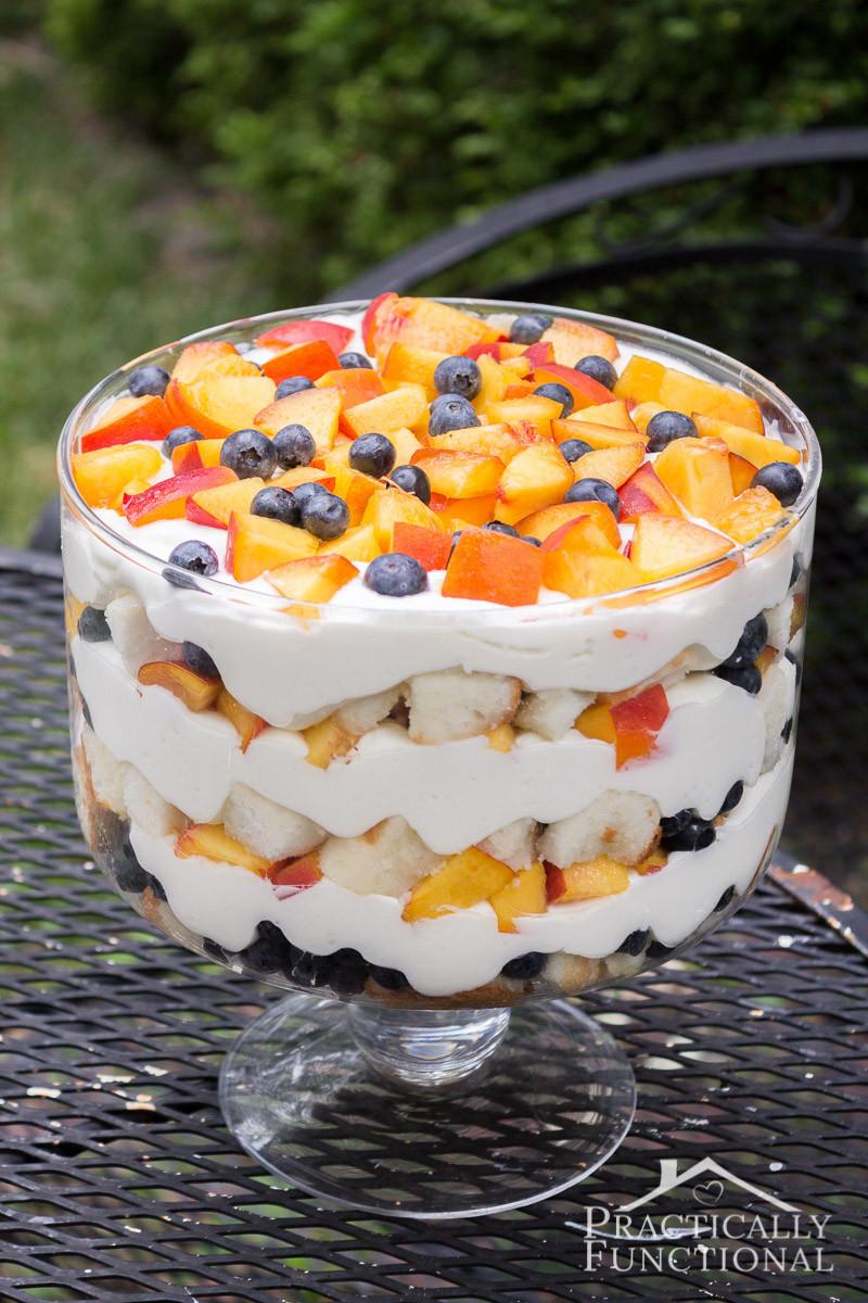 Summer Dessert Recipes  Summer Peach Blueberry Trifle Recipe