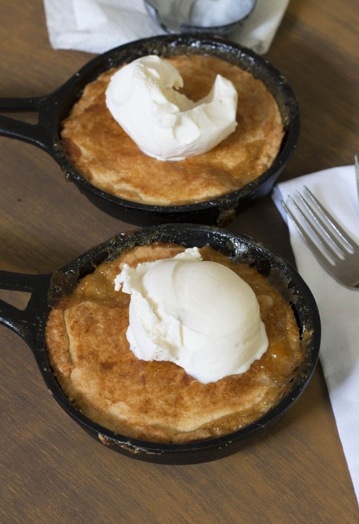Summer Desserts For Bbq  Mini Skillet Peach Cobblers Perfect to throw on the grill