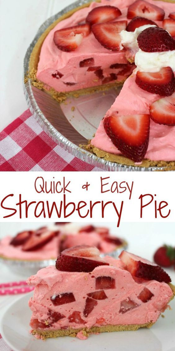 Summer Desserts For Bbq  Quick & Easy Strawberry Pie Recipe
