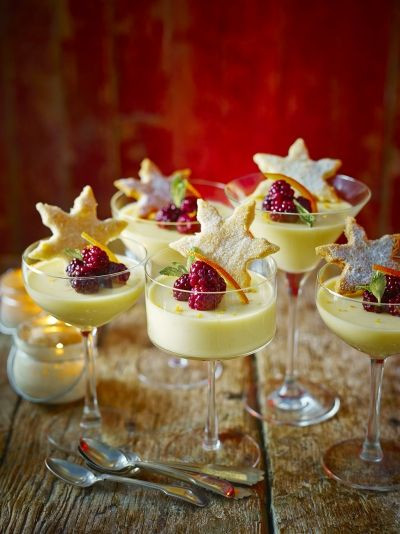 Summer Desserts Jamie Oliver  St Clement's posset with starry shortbread