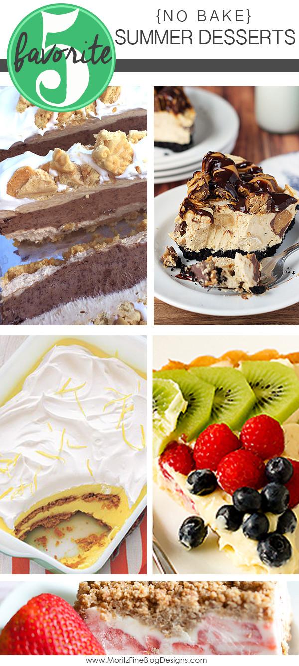 Summer Desserts No Bake  No Bake Summer Desserts