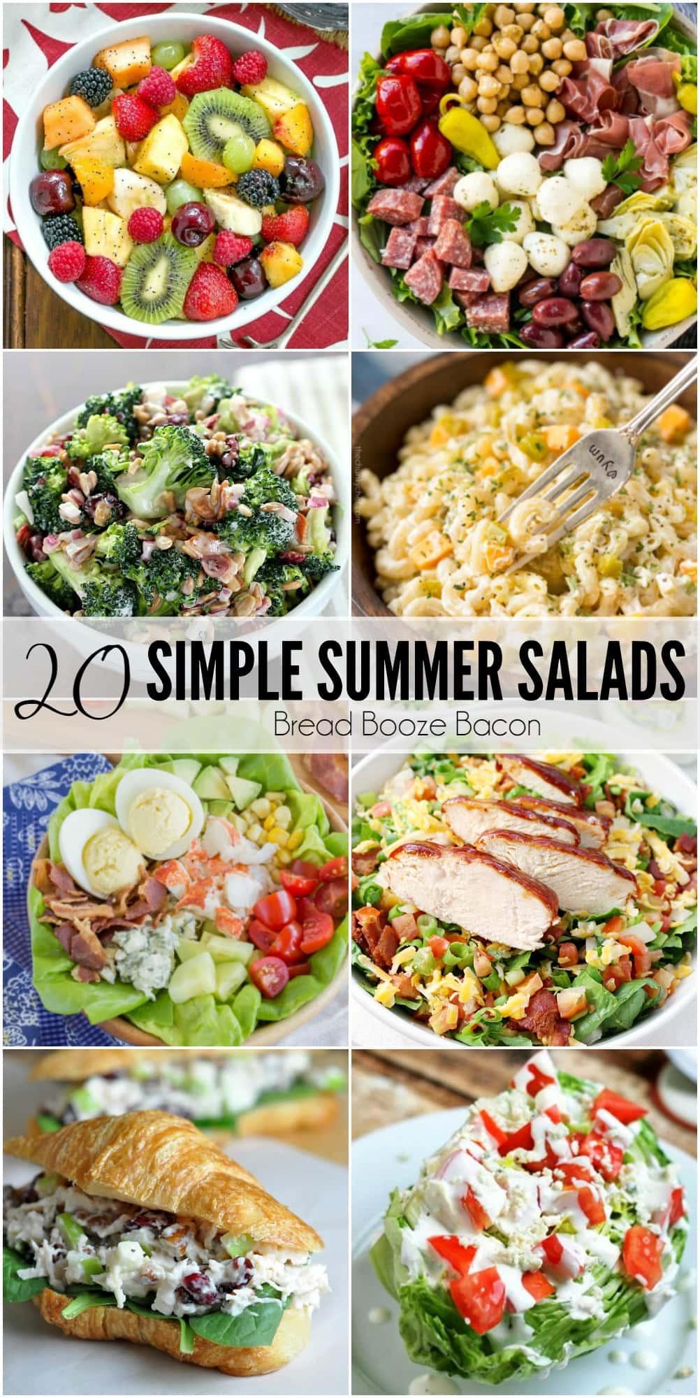 Summer Dinner Ideas Hot Days  20 Simple Summer Salad Recipes • Bread Booze Bacon
