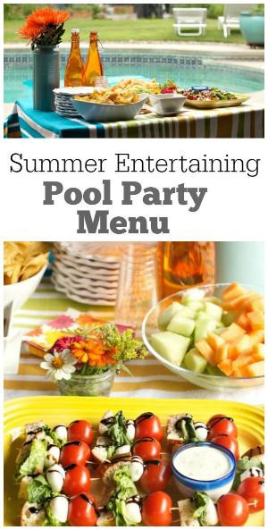 Summer Dinner Menu  Holiday entertaining with Pier 1 Tasting Party and decor