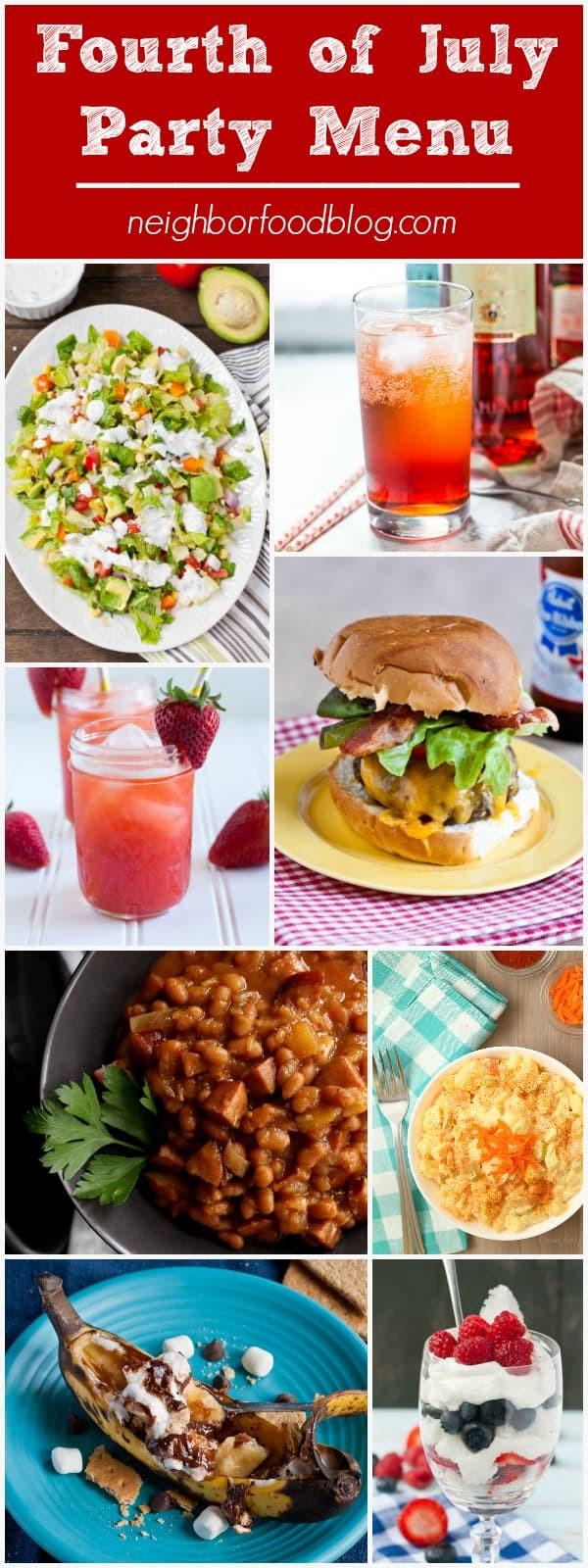 Summer Dinner Menu  Summer Dinner Party Menus