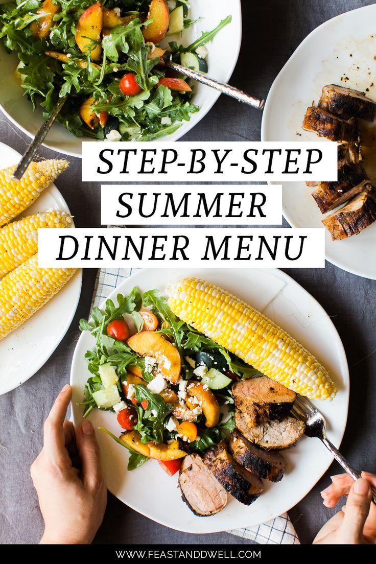 Summer Dinner Menu  Best 25 Summer dinner party menu ideas on Pinterest