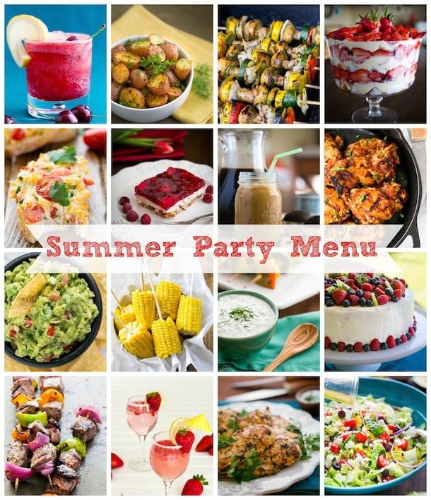 Summer Dinner Menu  Summer Party Menu Ideas NatashasKitchen