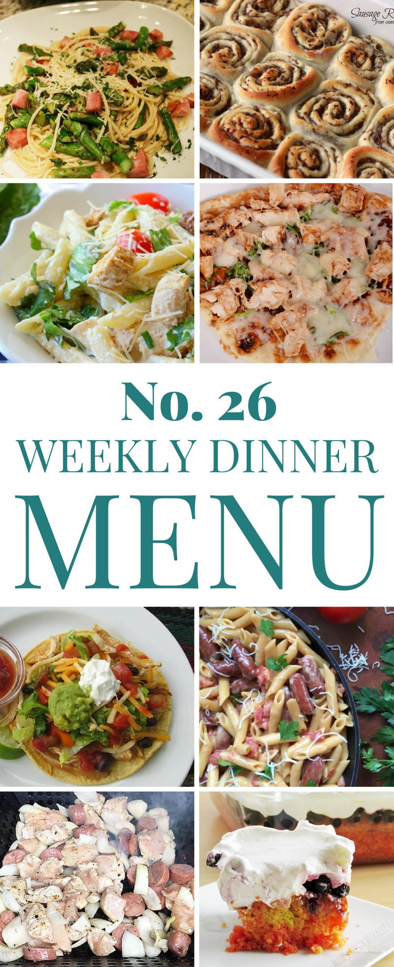 Summer Dinner Menus  Summer Dinner Ideas