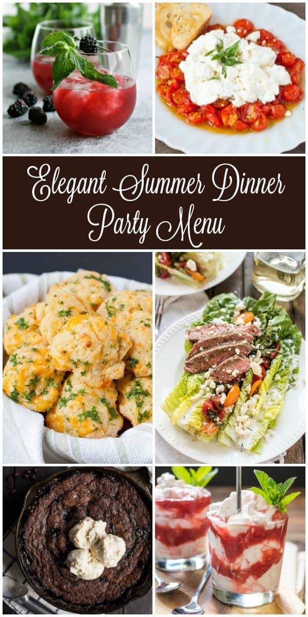 Summer Dinner Menus  Summer Dinner Party Menus