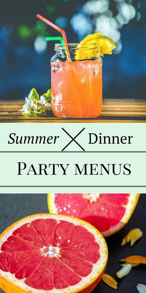 Summer Dinner Menus  45 best Dinner Party Ideas Menu images on Pinterest