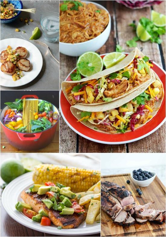 Summer Dinner Menus  A Week of Summer Meals