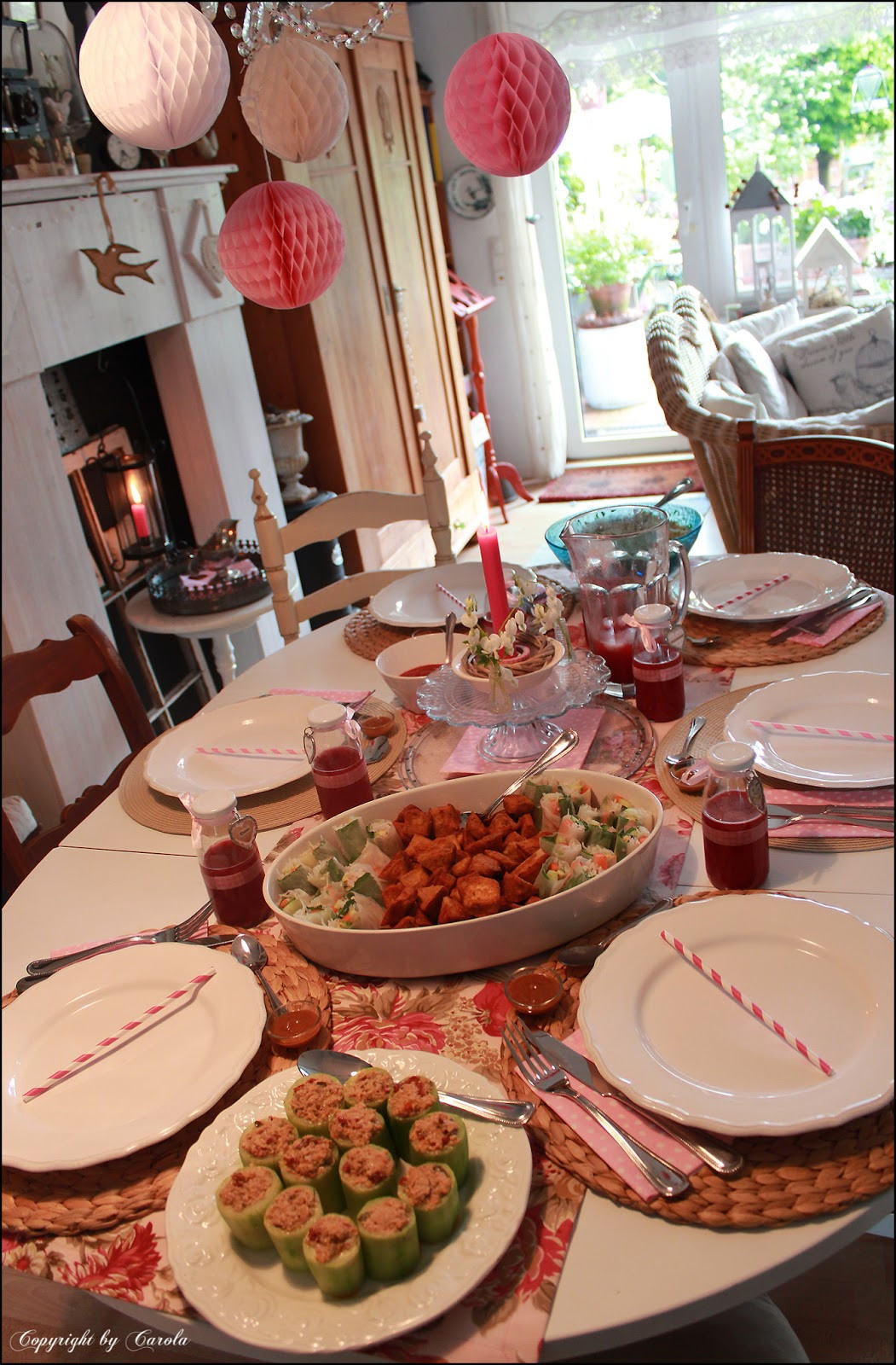 """Summer Dinner Party  Wel e to Boxwood Cottage About a """"Summer dinner party"""