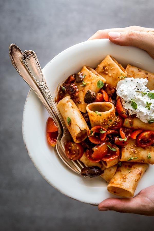 Summer Dinner Recipe  Summer Pasta Puttanesca Easy Dinner Recipe