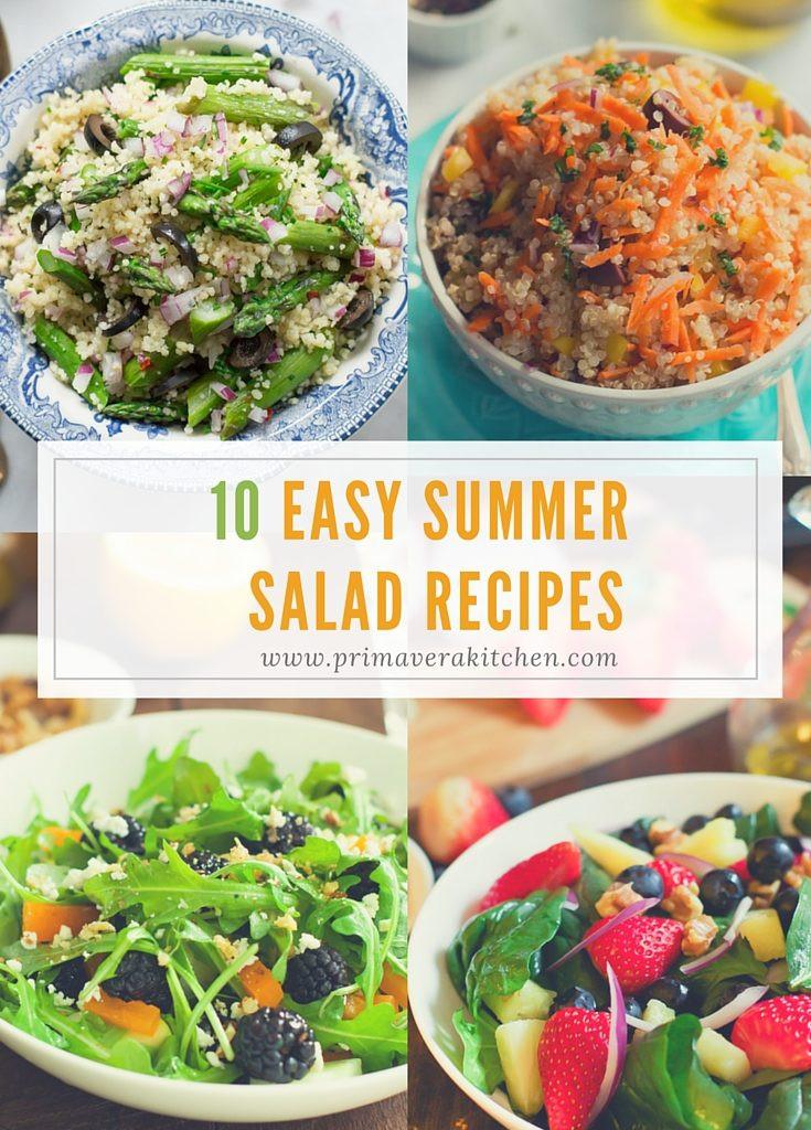 Summer Dinner Recipe  10 Easy Summer Salad Recipes Primavera Kitchen