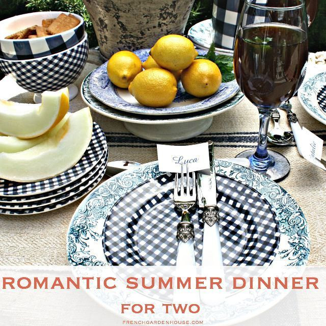 Summer Dinners For Two  Romantic Summer Dinner for Two