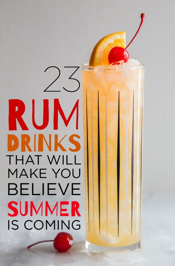 Summer Drinks With Rum  23 Rum Cocktails You Need To Know About