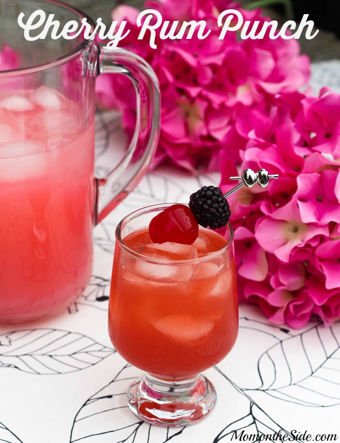 Summer Drinks With Rum  Thirsty Thursday Pink Lemonade Cherry Rum Punch
