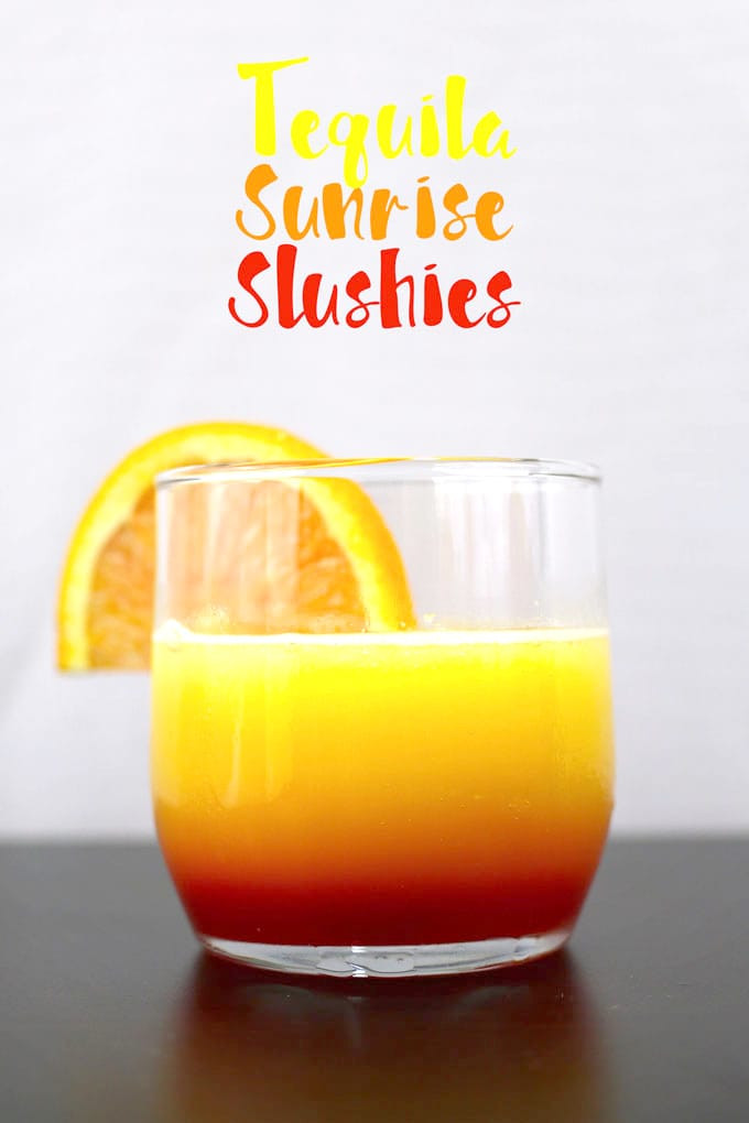 Summer Drinks With Tequila  Tequila Sunrise Slushies and VIDEO Honey and Birch