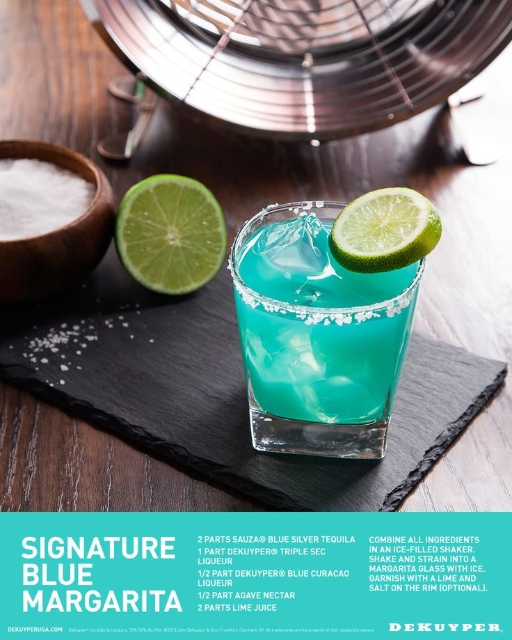 Summer Drinks With Tequila  Signature Blue Margarita Recipe