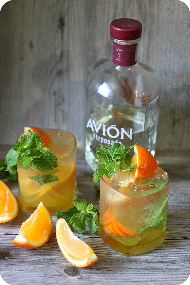 Summer Drinks With Tequila  Orange Mint Tequila Cocktail