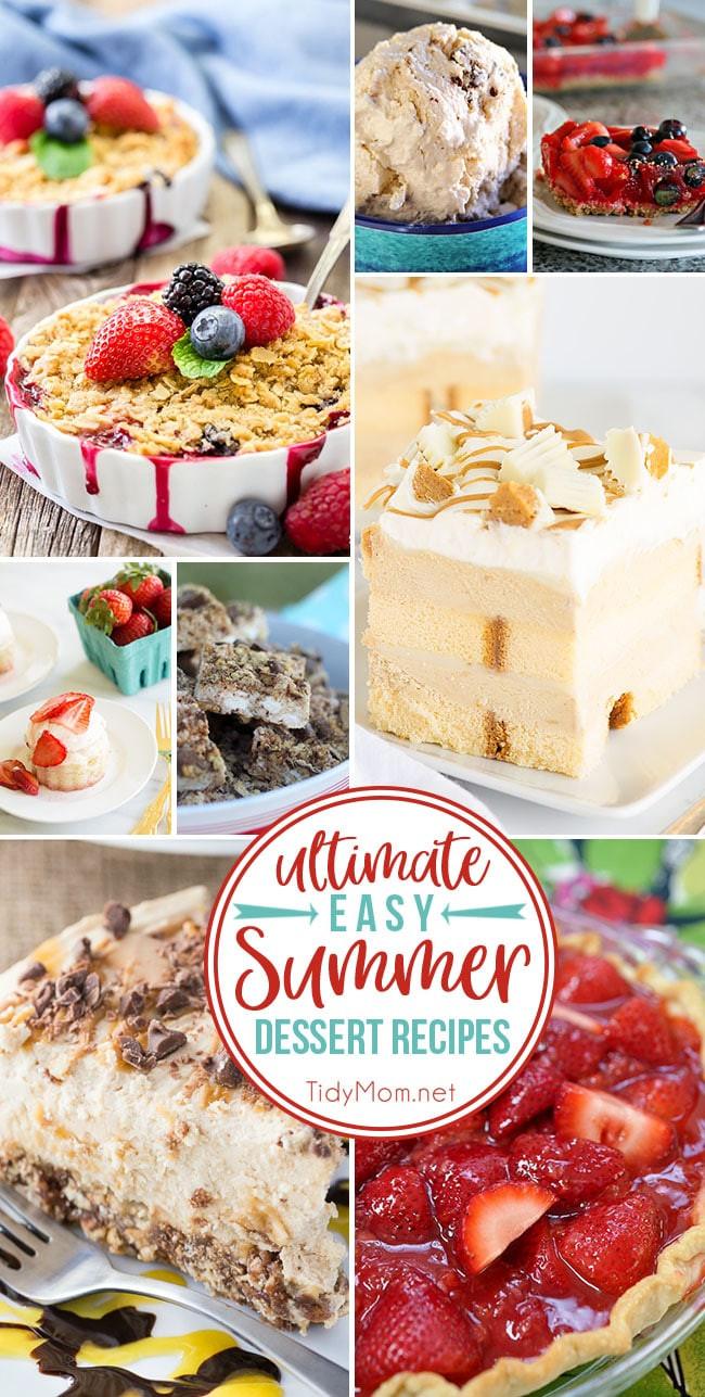 Summer Easy Desserts  Ultimate Easy Summer Dessert Recipes
