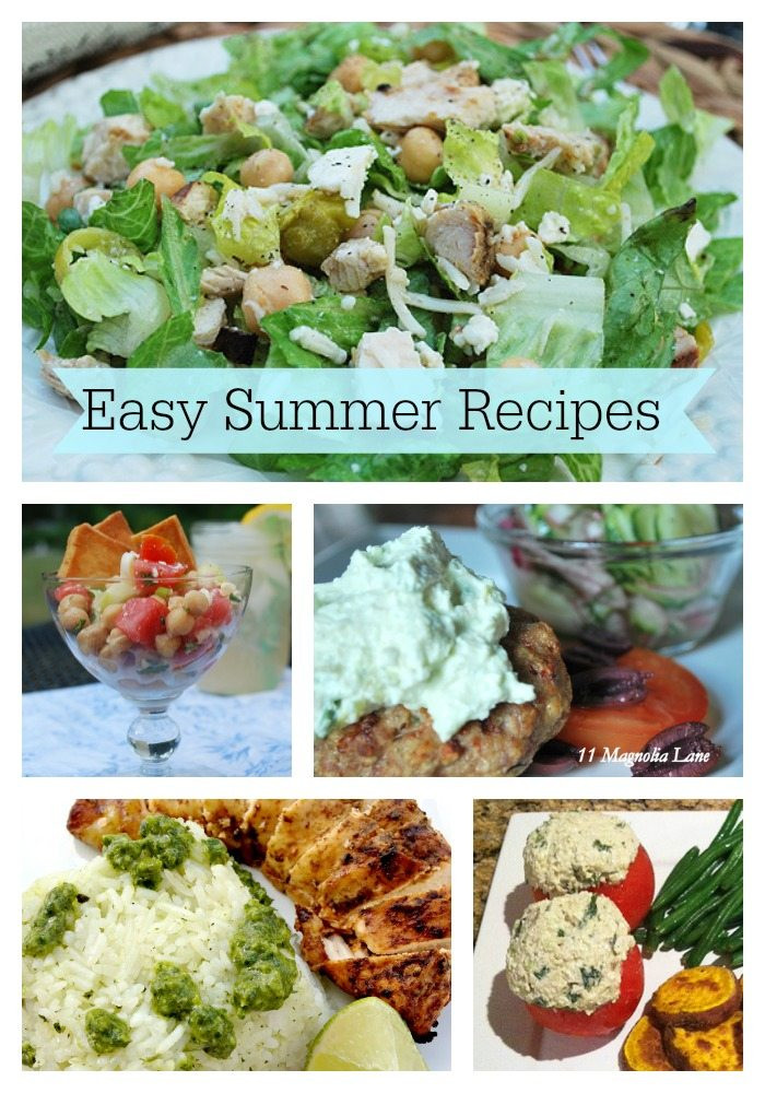 Summer Easy Dinners  5 easy and delicious dinner ideas