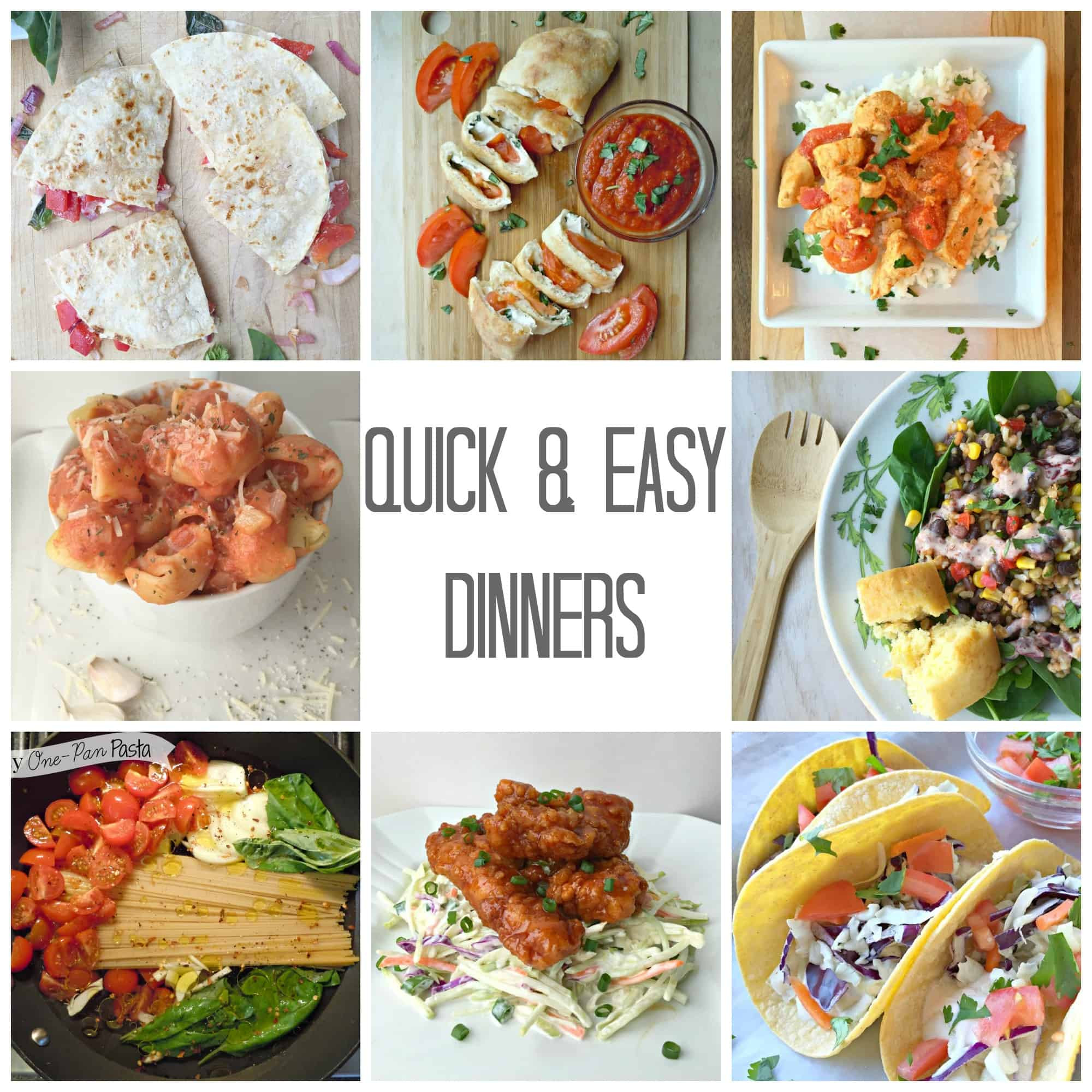 Summer Easy Dinners  Quick & Easy Summer Dinners Life a Little Brighter