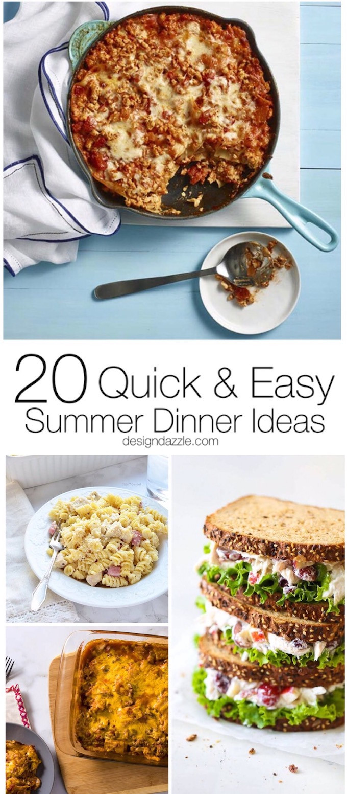 Summer Easy Dinners  Quick and Easy Summer Dinner Ideas Design Dazzle