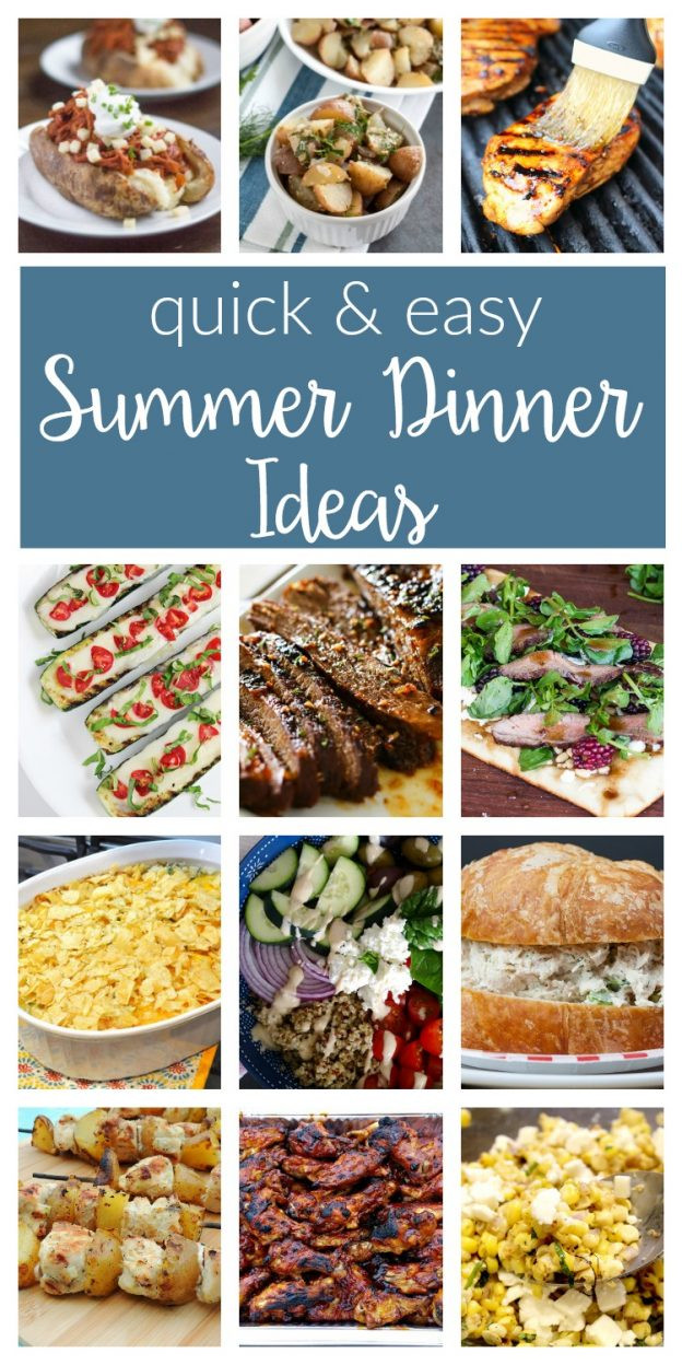 Summer Easy Dinners  Easy Summer Dinner Ideas Merry Monday 156 two purple