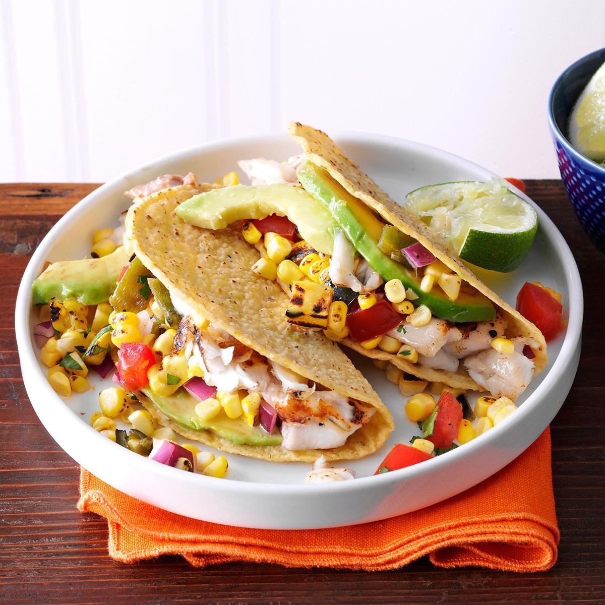 Summer Fish Recipes  Summer Garden Fish Tacos Recipe