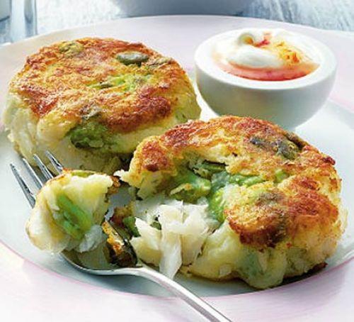 Summer Fish Recipes  Summer fish cakes with chilli cream recipe