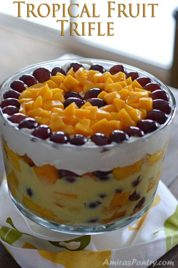 Summer Fruit Desserts Recipes  Simple summer desserts Tropical Fruit Trifle recipe