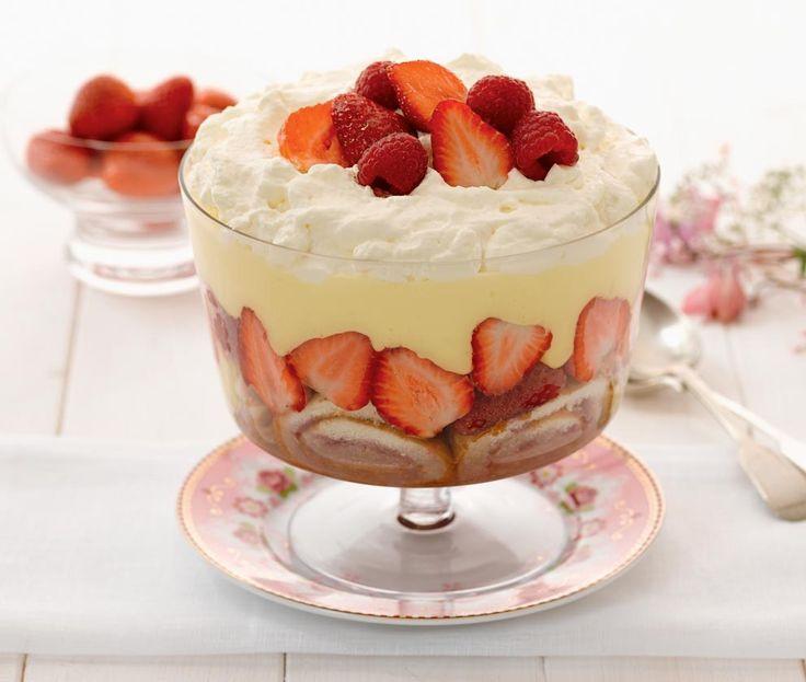 Summer Fruit Desserts Recipes  Summer fruit trifle Recipe Trifles Pinterest