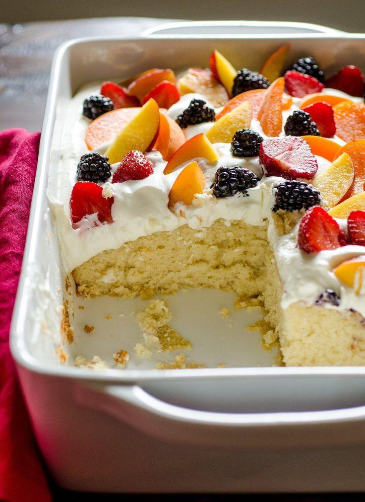 Summer Fruit Desserts Recipes  100 Summer Cake Recipes on Pinterest