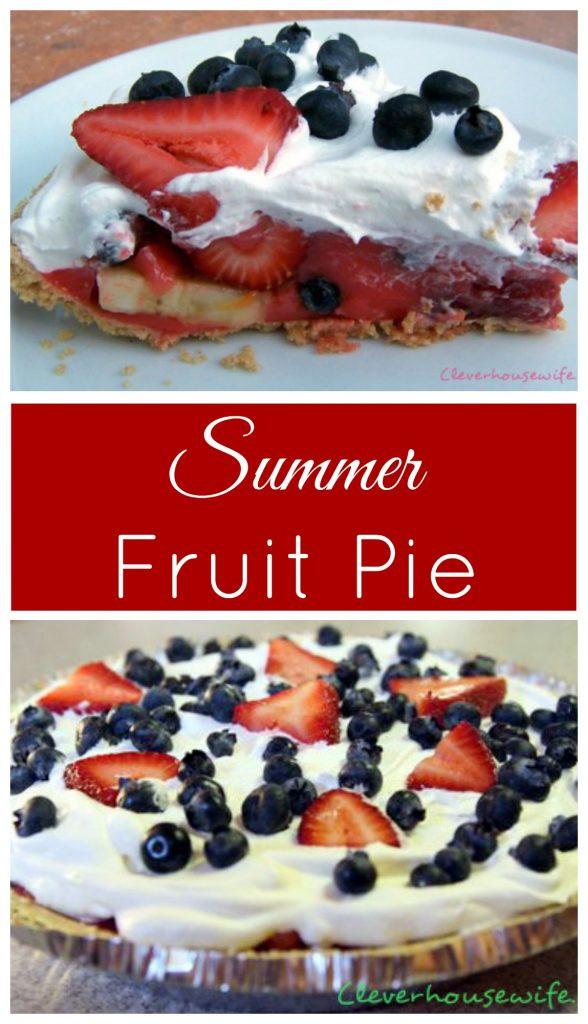 Summer Fruit Pies  Summer Fruit Pie Clever Housewife