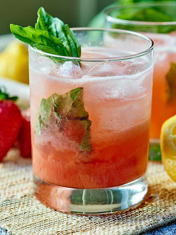 Summer Gin Drinks  Strawberry Basil Gin Cocktail the Perfect Summer Drink