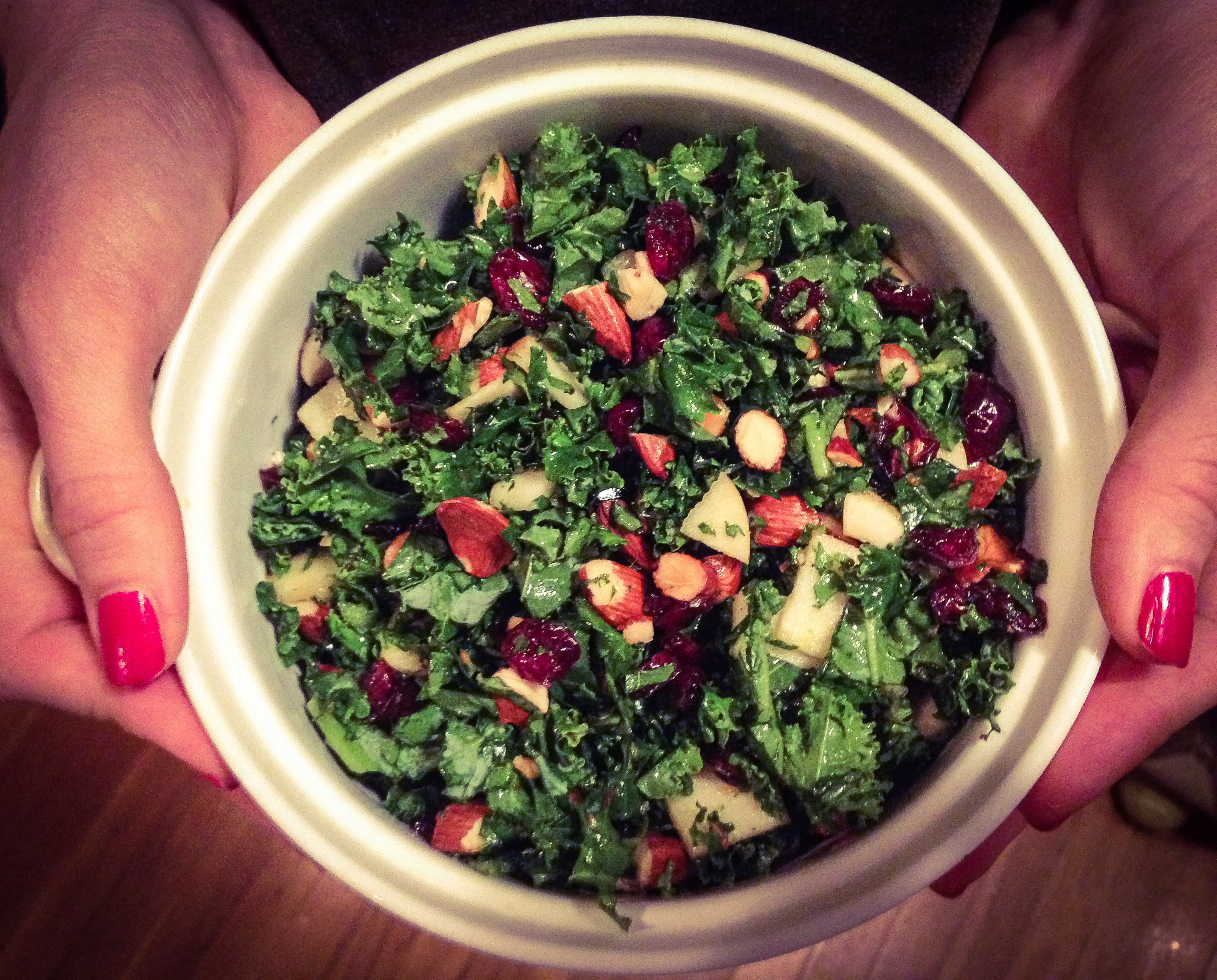 Summer Kale Recipes  Fruit and Nut Summer Kale Salad Recipe Feel good Eat clean