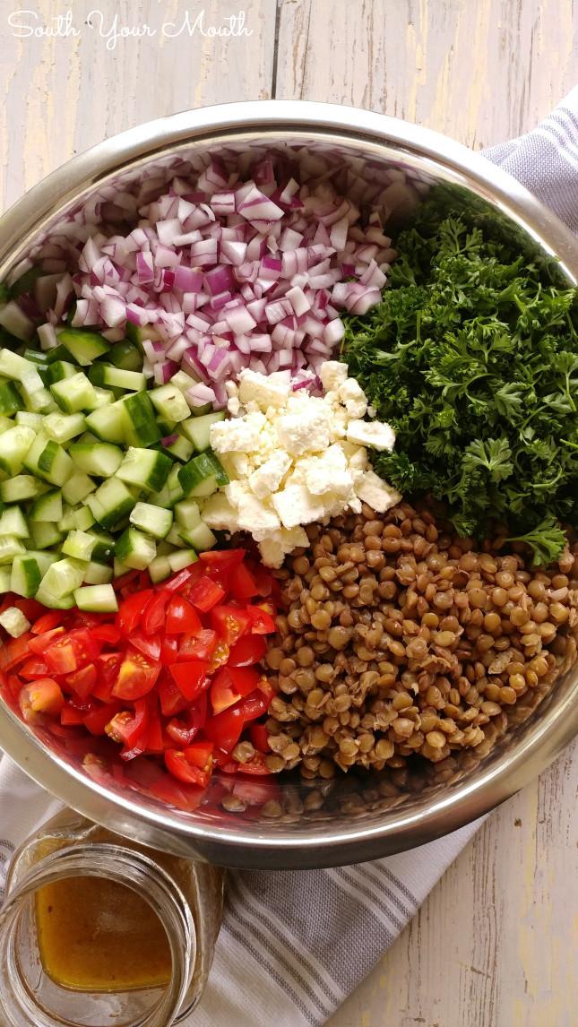 Summer Lentil Recipes  South Your Mouth Mediterranean Lentil Salad