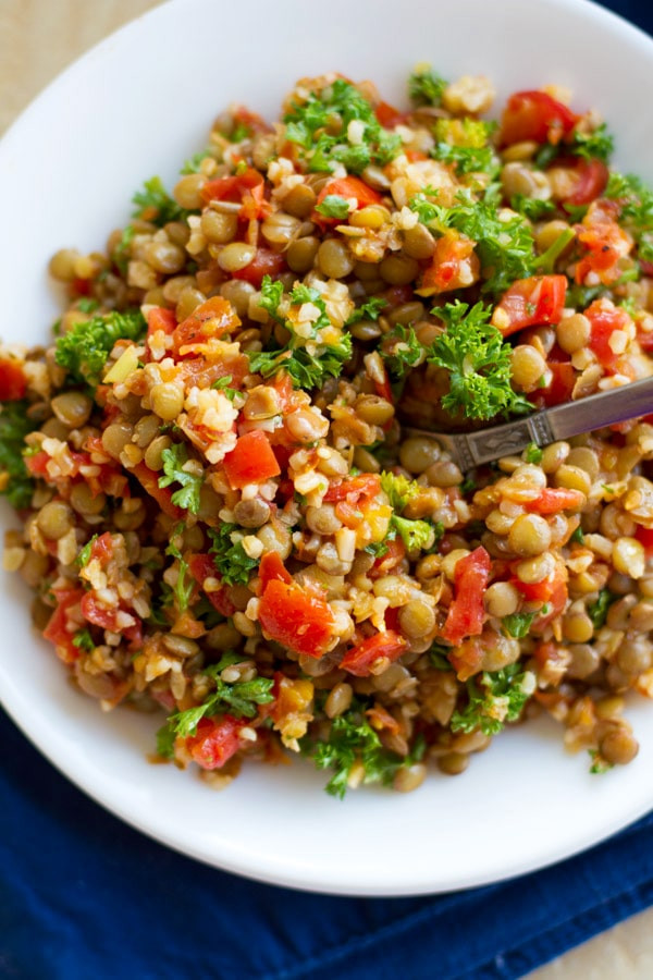 Summer Lentil Recipes  Summer Tomato Lentils Recipe — Dishmaps