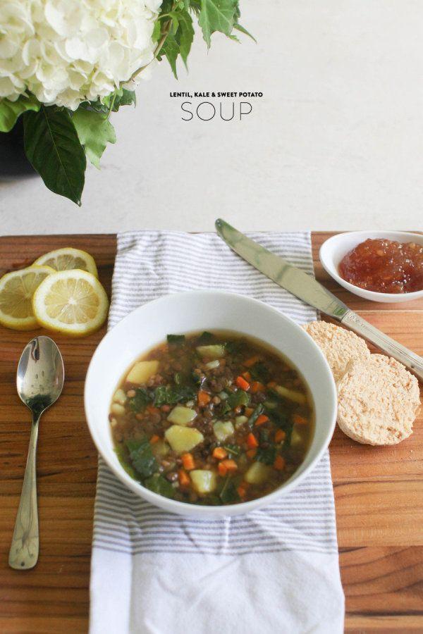 Summer Lentil Recipes  Summer Lentil Kale & Sweet Potato Soup Style Me Pretty
