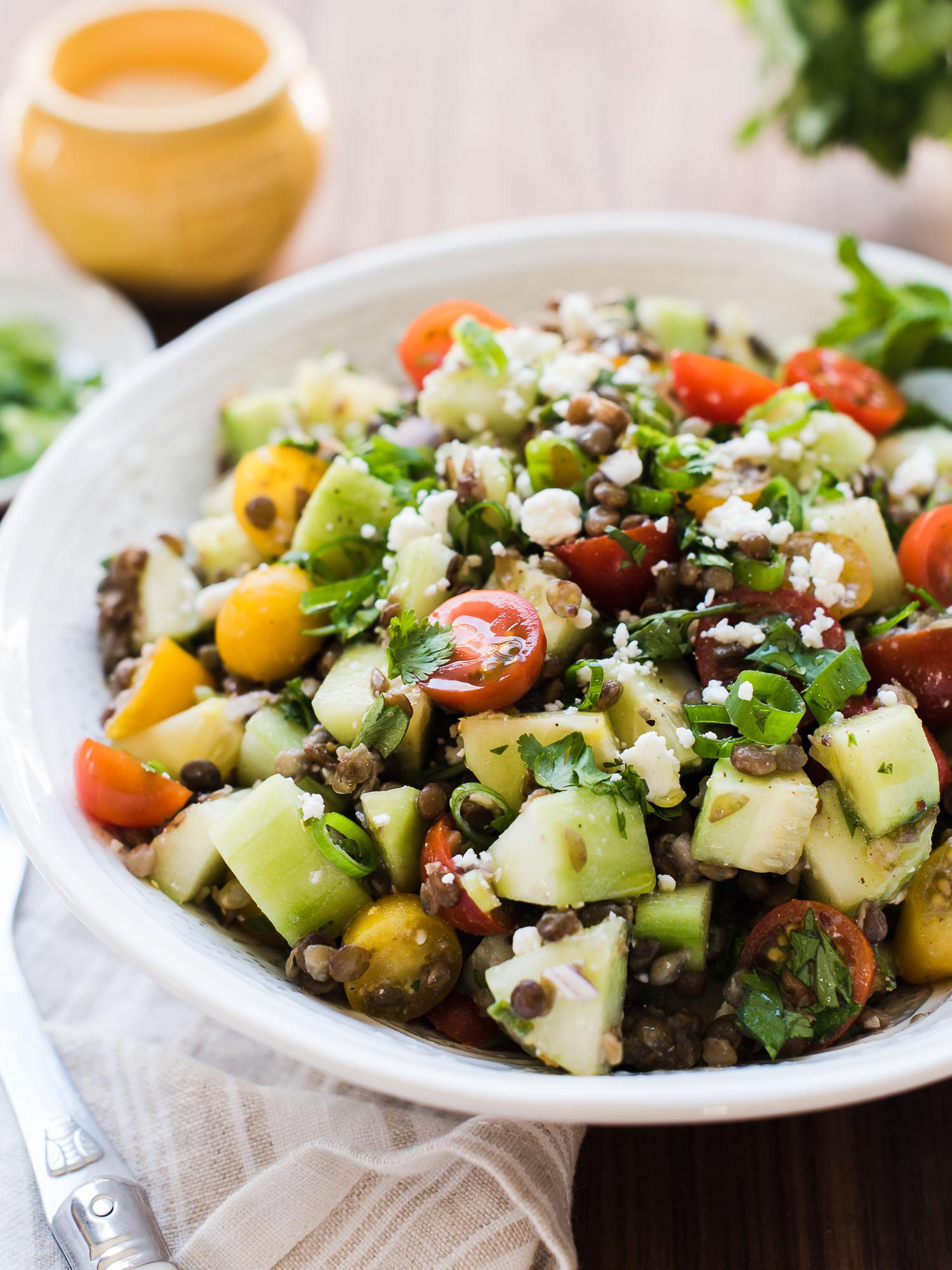 Summer Lentil Recipes  Summer Lentil Salad