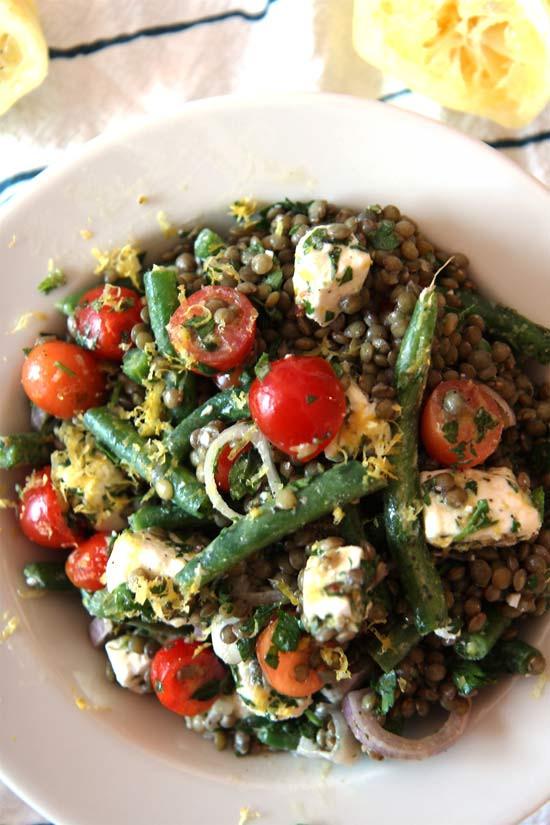 Summer Lentil Recipes  Summer in Paris Lentil Salad Chop Happy