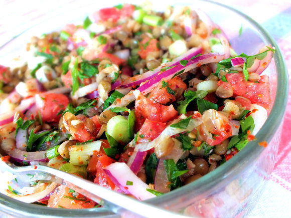 Summer Lentil Recipes  Green Lentil Salad Recipe • Turkey s For Life