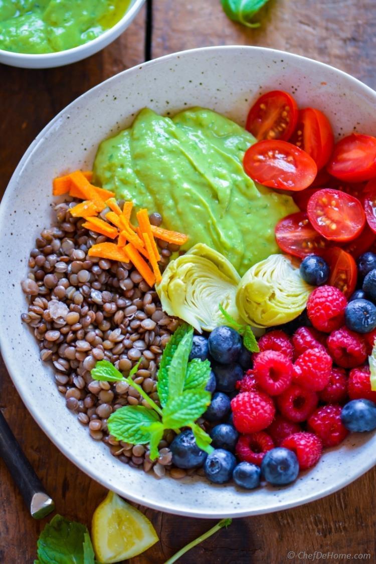 Summer Lentil Recipes  Healthy Summer Glow Lentil Salad Recipe