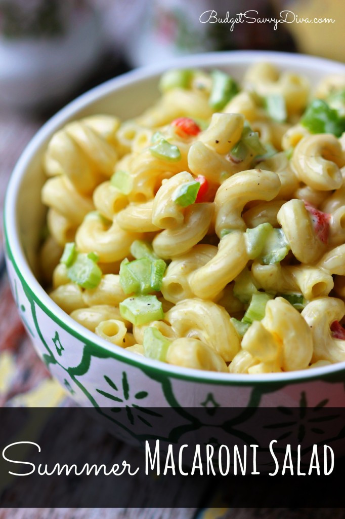 Summer Macaroni Salad  Summer Macaroni Salad Recipe