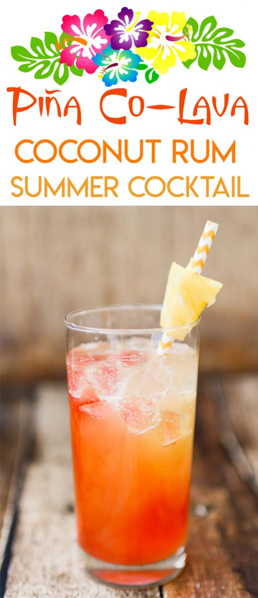 Summer Mixed Drinks With Rum  Pineapple Coconut Malibu Rum Summer Cocktail Recipe
